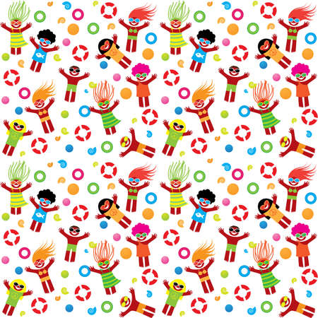 Pattern - summer vacation on the beach. World of happiness and joy. Vector