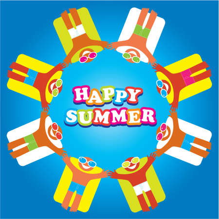 Summer vacation. Template for your design. Vector