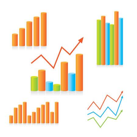 Modèle de jeu de graphiques montrant les progrès. Pour la conception de votre présentation.