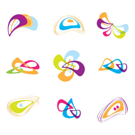 distorted image: Templates - Business abstract design elements. Set for print and web. Vector. Illustration