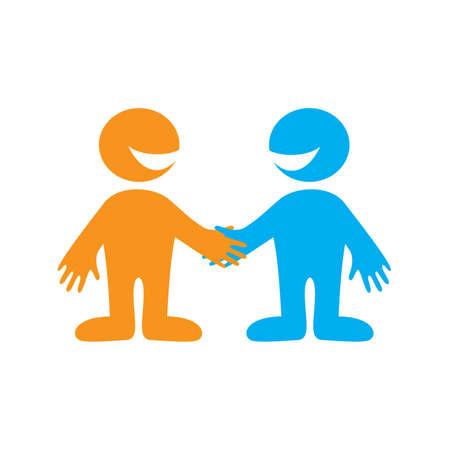 deacuerdo: S�mbolo de negociaciones empresa exitosa. Asociados de negocios. Signo de vector.