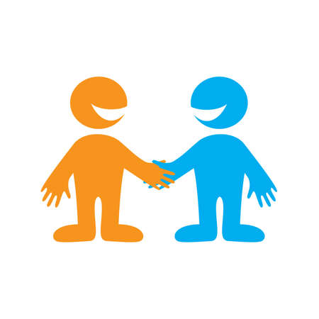 Symbol of successful business negotiations. Business Partners. Vector sign. Stock Vector - 9929352