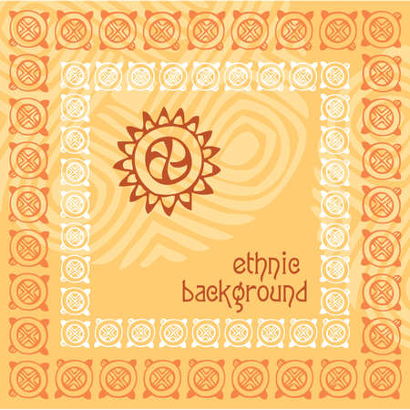 Background - ethnics. Vector template. Stock Vector - 9929379