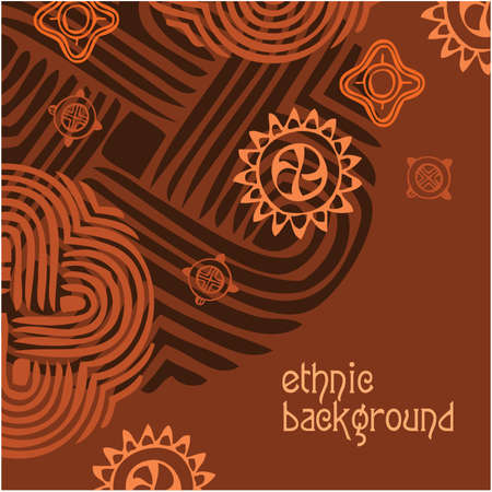 Ethnic background - the template. Vector frame. Stock Vector - 9929375