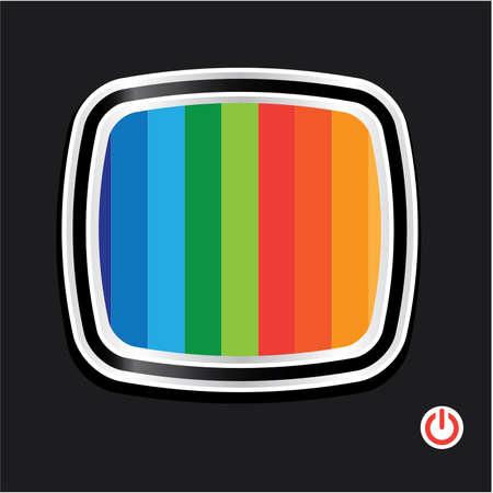 object print: Background - Wallpaper - TV. Vector.