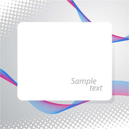 Modern frame for text design. Stock Vector - 10214943