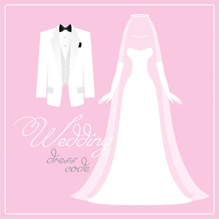 pink dress: Wedding - bridal dress code bride and groom.