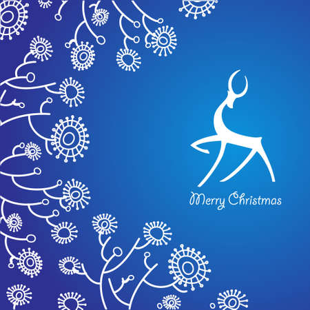 The traditional Christmas card. New Year Vector