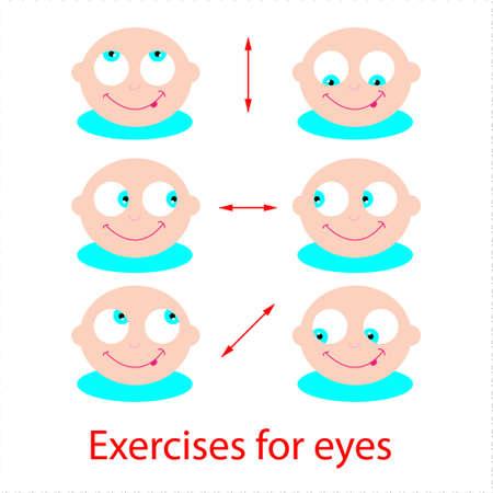 sehkraft: Reihe von �bungen f�r die Augen. Gutes Sehverm�gen!