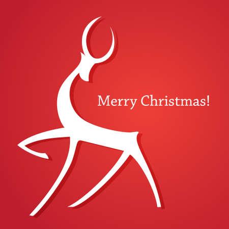 renos de navidad: Plantilla de tarjetas de Navidad. ¡Feliz Navidad! Año Nuevo