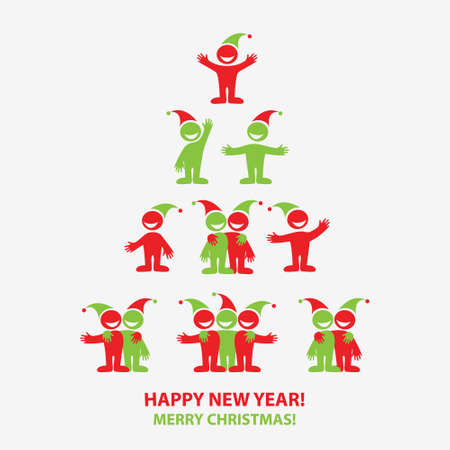Merry Christmas icons for New Year and Christmas designs. Vector Collection. Stock Vector - 11276541