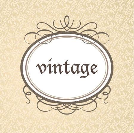 Template framework - a luxurious vintage style. Vector. Illustration