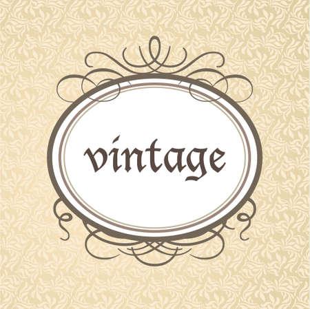 Template framework - a luxurious vintage style. Vector. Illustration