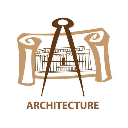 Template icon Art - a symbol of architecture. Vector