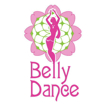 A symbol of belly dances is a silhouette of figure of girl carrying out dance on a background a  decorative pattern Vector