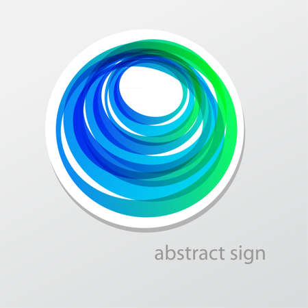Abstract business sign.  Vector
