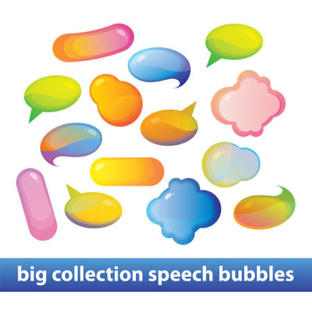 Big collection bubbles for speech. Stock Vector - 17249734