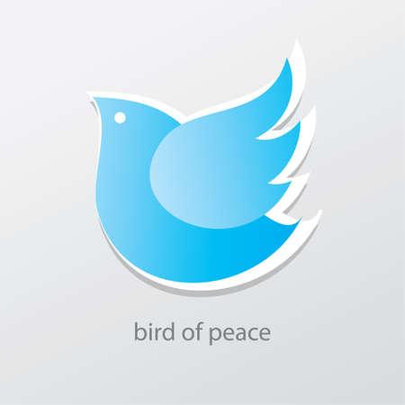 simbolo della pace: Simbolo di pace e di amore - uccello della pace. Vettoriali