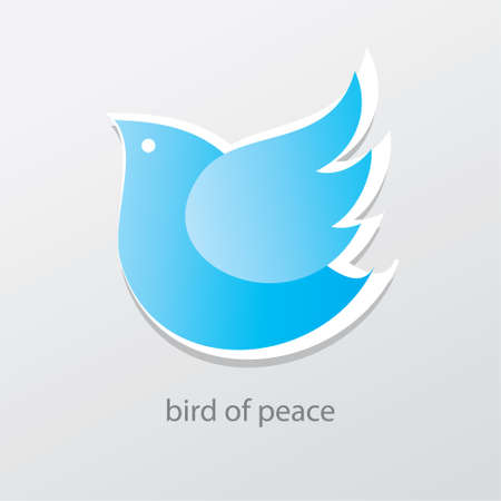 Symbol of peace and love - bird of peace. Vector