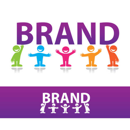 creating wealth: Creating a brand. Illustration