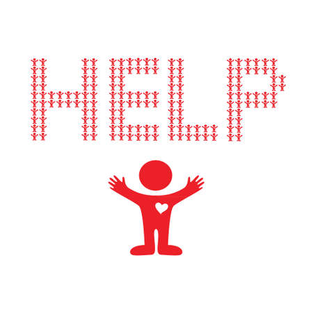 Asking for help.  Stock Vector - 17249676