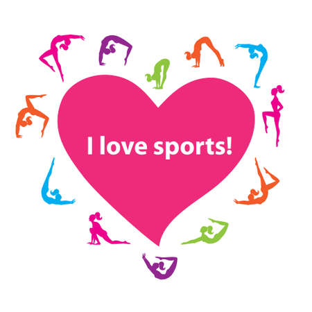 My motto is: I love sports! Stock Vector - 17249569