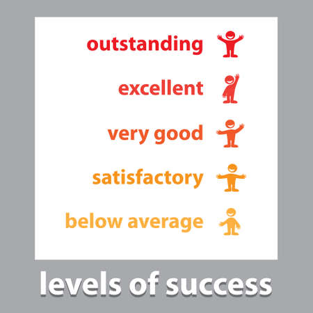 Levels of success - a turn-based scheme. Stock Vector - 17249576