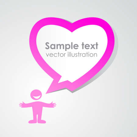 Heart speech bubble. Vector