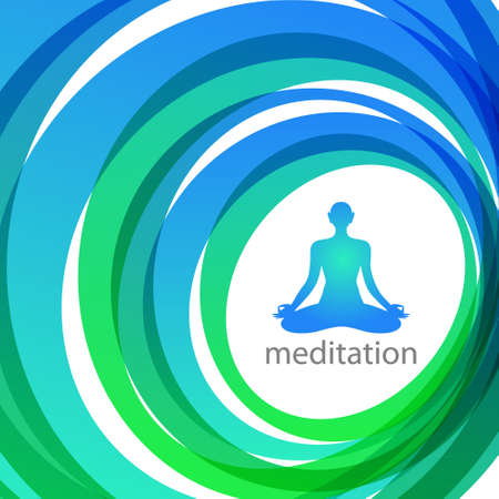 meditation - yoga style - poster Stock Vector - 17249679