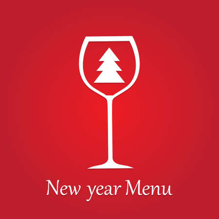 newyear: A new-year and christmas menu is a design template for a restaurant.