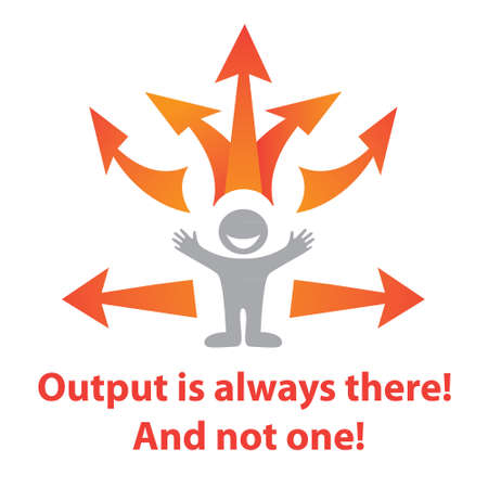 Output is always there! And not one! - the possible ways out Stock Vector - 17249440
