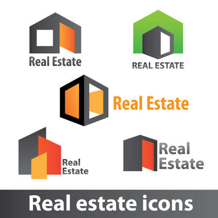 real estate house: Real estate icons Illustration
