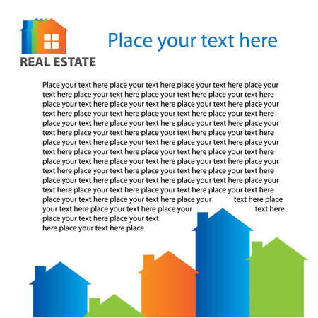Real estate - advertisement page Vector