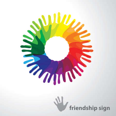 Sign of friendship. design concept