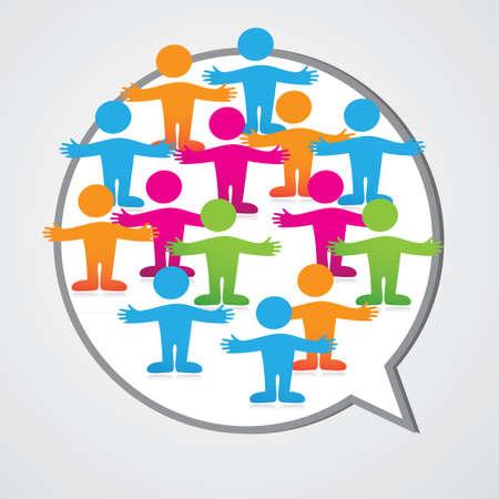 Social media people inner circle Speech Bubble. Stock Vector - 17249599