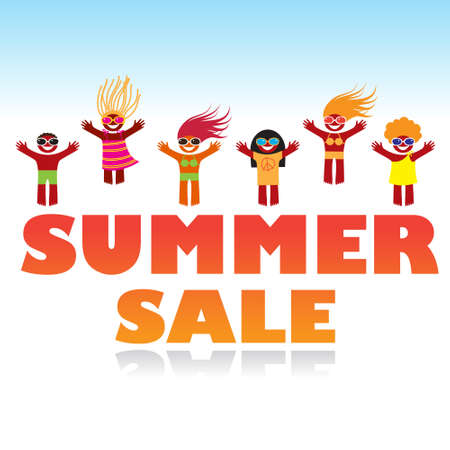 summer sale poster design template. Stock Vector - 17249674