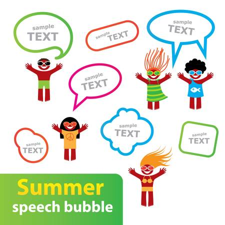 Summer - the speech-bubble. Summer collection for your design. Stock Vector - 17249669