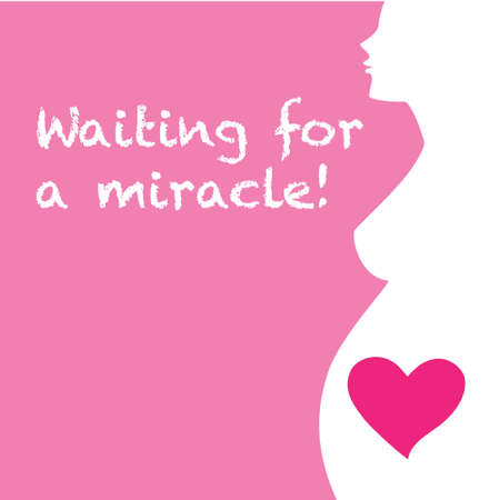 pregnant woman: Pregnant woman - Waiting for a miracle! Illustration