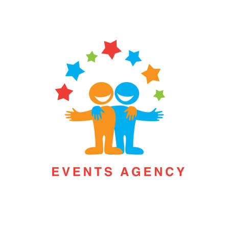 Sign template for event agencies Illustration