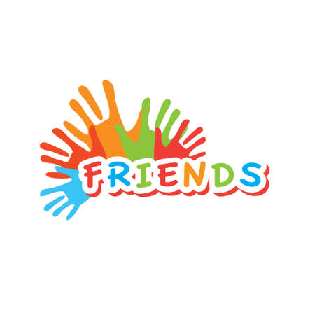 Sign template for a club of friends - concept Stok Fotoğraf - 18154967