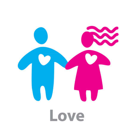 Sign of Love. Boy and girl. Stock Vector - 18154958