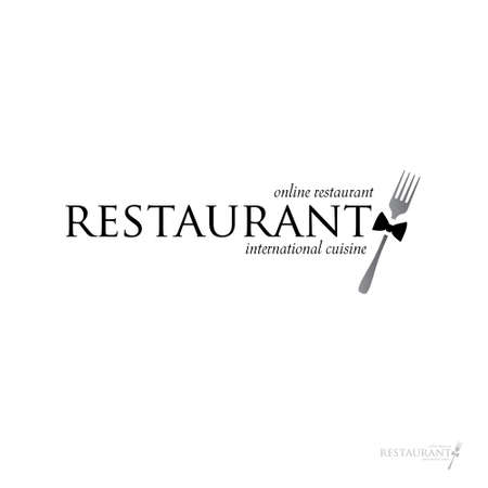 idea for a sign - online restaurant. Vector