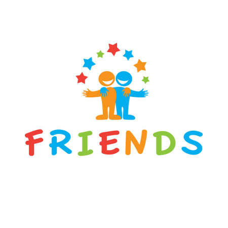 friendship: Sign of friends. Vector symbol of friendship.