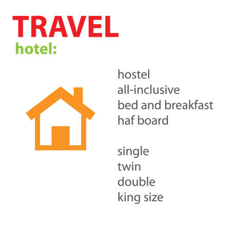 species: Travel. Hotel. Species. Vector scheme.
