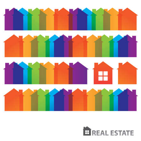 Rental housing. Home sales. Property. Real Estate. vector Vector