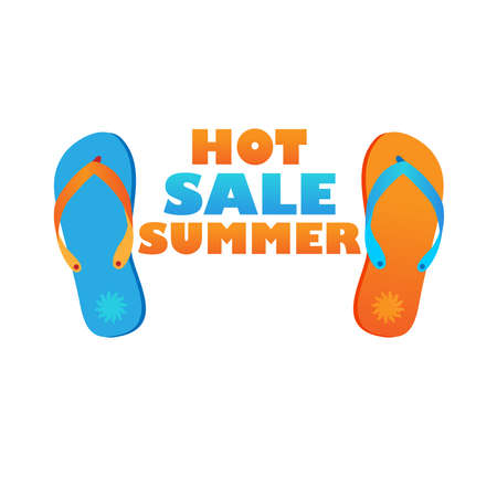 shoe print: idea for the design of summer - summer discounts Illustration