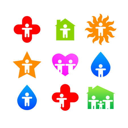 heard: signs collection - elementary person -  vector template