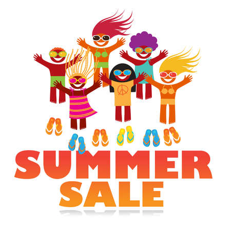 summer sale poster - template for design Vector