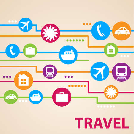 Design icons - Travel, vector collection Vector