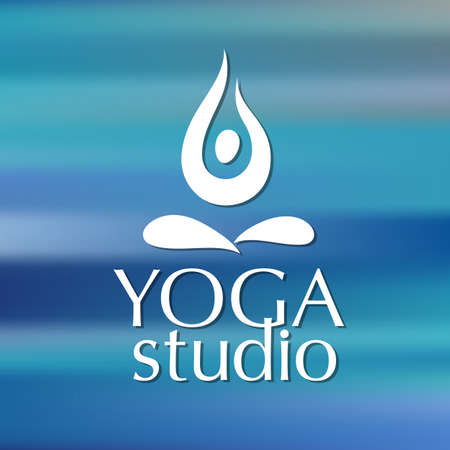 Template for yoga studios emblem  Stock Vector - 30350046